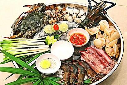 thực đơn nhà hàng Hải yến - gần sân bay Nội Bài